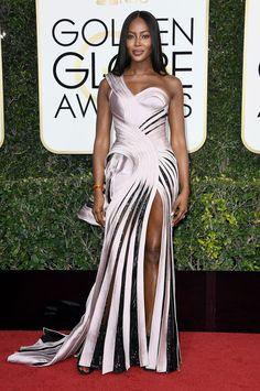 Naomi Campbell Dress: Atelier Versace Naomi Campbell, 74th Golden Globe Awards, Golden Globes, Geisha, Fashion Models, Fashion Show, Fashion Design, Fashion Fashion, Podium