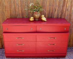 MID CENTURY DRESSER  Made By Basset Painted A by DrabtoFabVintage, $375.00 I love this dresser and I love the color the shop owner painted it!!!!!!! It's fun and upbeat!