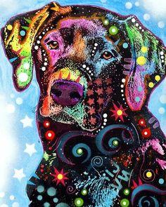 Black Labrador Dog Three Tennis Balls Fine Art Print by ...