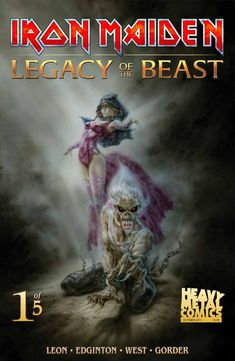 Heavy Metal's Luis Royo Covers 'Iron Maiden: Legacy Of The Beast #1'