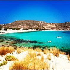 The beach of Simos Camping at Elafonisos, Greece.