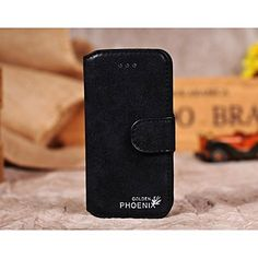 Fashion® Retro Style Nubuck Genuine Leather wallet case for iphone 4/4s with Stand Card Slot – USD $ 10.99