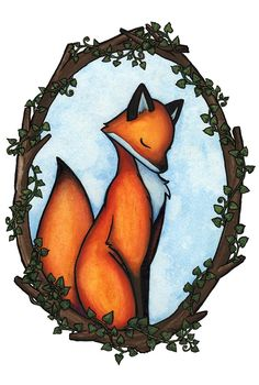 lovely fox painting
