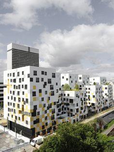 Apartment Blocks in Nanterre, apartments, architecture