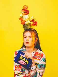 Balancing Ten Burgers on Your Head Is a Lot Easier Than You'd Think || Photos by Alex De Mora  #food #photo #fashion