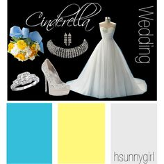 """Cinderella Themed Wedding"" by hsunnygirl on Polyvore"