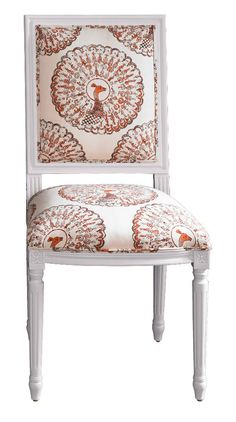 Tilton Fenwick Chair - Paboreal in Coral by Tilton Fenwick Find the fabric here: http://www.housefabric.com/Paboreal-Coral-31-21082-31-P163063C4677.aspx