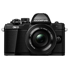 """Buy Olympus OM-D E-M10 Mark II Compact System Camera with M.ZUIKO 14-42mm EZ Lens, HD 1080p, 16.1MP, Wi-Fi, 5-Axis IS, OLED EVF, 3"""" LCD Tilting Touch Monitor Online at johnlewis.com"""