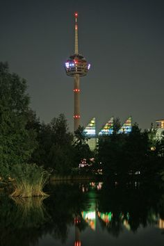 Colonius, the telecommunications tower by night.