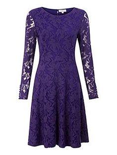 Purple Lace Skater Dress  $110.00