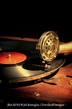 Trevillion Images - old-gramophone-player-with-record