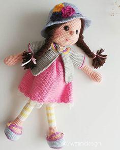 Mesmerizing Crochet an Amigurumi Rabbit Ideas. Lovely Crochet an Amigurumi Rabbit Ideas. Easy Amigurumi Pattern, Amigurumi Free, Crochet Amigurumi, Amigurumi Doll, Crochet Dolls, Crochet Motifs, Crochet Stitches Patterns, Doll Patterns, Knitting Patterns