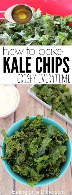 Perfectly Crispy, Oven Baked Kale Chips - Eating on a Dime