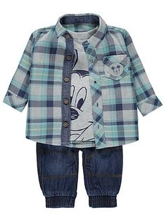 Disney 3 Piece Mickey Mouse Set, read reviews and buy online at George at ASDA. Shop from our latest range in Baby. Your mini style icon will look adorable i...