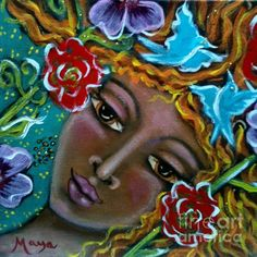 Flower Elemental by Maya Telford - Flower Elemental Painting - Flower Elemental Fine Art Prints and Posters for Sale