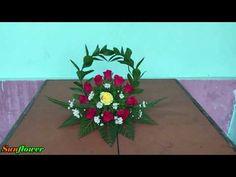 Cắm Hoa Để Bàn Đơn Giản - Topic Vòng Tay Của Mẹ - YouTube Funeral Flower Arrangements, Funeral Flowers, Floral Arrangements, Wreath Crafts, Flower Decorations, Tropical, Make It Yourself, Link Youtube, Contemporary Flower Arrangements