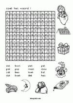 woordzoeker - eenvoudig (voor groep 3/4)