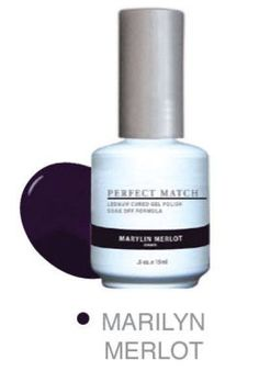 Lechat Perfect Match Marilyn Merlot Comes With A Gel Polish And Matching Nail Lacquer