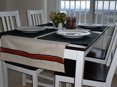 No Sew Table Runner! Like the size of this one