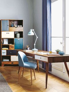 12 Home Office Desk Ideas That Are Functional and Beautiful Home Office, Study Room Decor, Home And Living, Home Office Desks, Furniture, Home Office Setup, Home, Home Office Organization, Home Decor