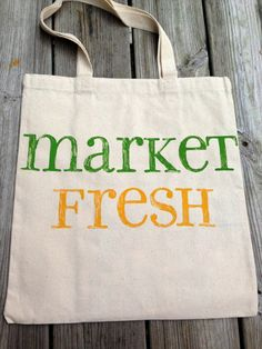 Canvas Market Tote - Market Fresh