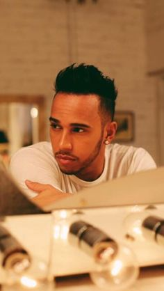 Lewis Hamilton, twice F1 world champion and hot bloke.