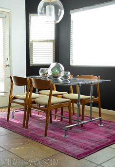 DIY Dining Room Table Projects - Conduit Pipe Table DIY - Creative Do It Yourself Tables and Ideas You Can Make For Your Kitchen or Dining Area. Easy Step by Step Tutorials that Are Perfect For Those On A Budget Diy Dining Room Table, Dining Tables, Dining Area, Diy Esstisch, Build A Table, Pipe Table, Pipe Desk, Wood Table, Industrial Dining