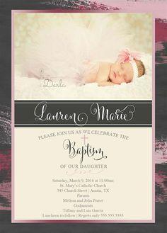 baptism invitations at party city