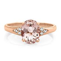 Morganite & Diamond Ring in 10K Gold