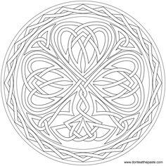 knotted shamrock to color - Pics To Color