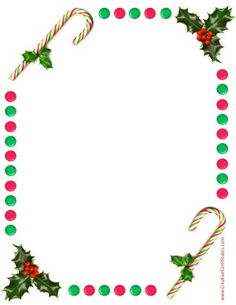 Free border with holly and candy sticks Border Templates, Frame Template, Christmas Candy, Christmas Photos, Templates Printable Free, Free Printables, Free Christmas Borders, Borders Free, Free Christmas Printables