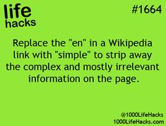 1000 Life Hacks, nice to know! even though i don't really use wikipedia!