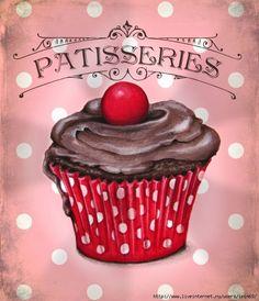 Vintage Pâtisseries #cupcake #fairycake