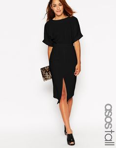 Image 1 of ASOS TALL Wiggle Dress with Split Front