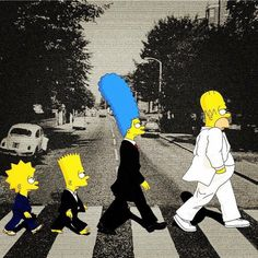 the Simpsons in London Simpsons Drawings, Simpsons Art, Simpson Wallpaper Iphone, Cartoon Wallpaper, Zombie Christmas, Futurama, Funny Wallpapers, Disney Art, Movie Posters