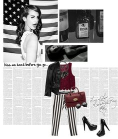 """""""kiss me hard before you go...♥"""" by gagarose ❤ liked on Polyvore"""
