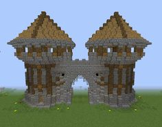 Middle Ages City Gates - GrabCraft - Your number one source for MineCraft buildings, blueprints, tips, ideas, floorplans!