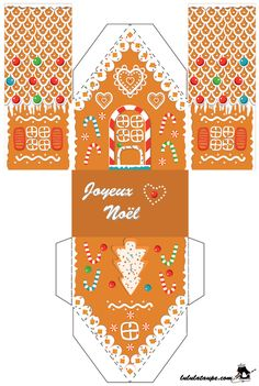 Print, cut out, spice bread house Christmas Paper Crafts, Christmas Art, Christmas Projects, Christmas Holidays, Christmas Decorations, Christmas Ornaments, Xmas, Vintage Paper Dolls, Christmas Printables