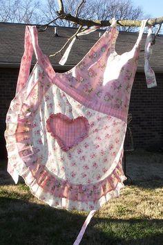 A country life. Pretty homemade apron.