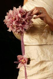 One of our Pink Cymbidium orchid bouquet, striking without fuss. love making this one, Orchid Bouquet, Cymbidium Orchids, Wedding Pictures, Pink, How To Make, Jewelry, Jewels, Schmuck, Wedding Moments