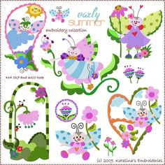 Lovely bugs patterns #embroidery #patterns