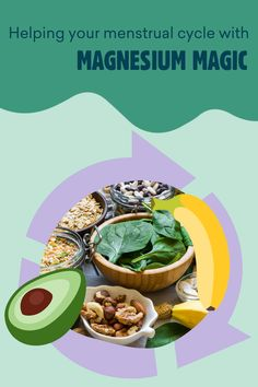 Magnesium for your period and to support your cycle? It's better than you think, and we've got the reasons why this mineral really can be menstrual magic. Menstrual Cycle, Free Blog, Mineral, Period, Magic, Canning, Ethnic Recipes, Food, Essen