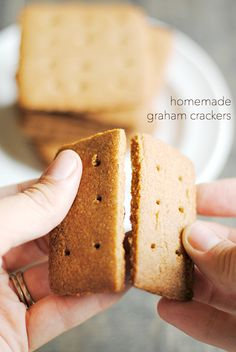 Homemade Graham Crackers are so easy to make and taste so much better than store-bought!