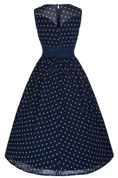 Lindy Bop 'Cindy' Vintage 50's Classy Yet Sassy Polka Dot Party Dress (L, Sage)