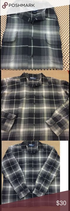 Polo Ralph Lauren Men's Steward Black White plaid Super soft 73% silk 27% cotton. Excellent condition with no flaws. Bundle and save! Polo by Ralph Lauren Shirts Casual Button Down Shirts