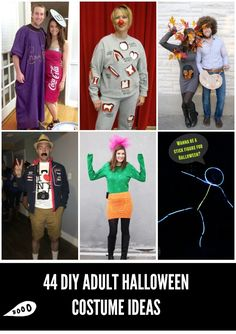 44 Homemade Halloween Costumes for Adults