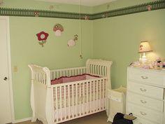 A influência da cor no quarto do seu filho. Quarto verde.