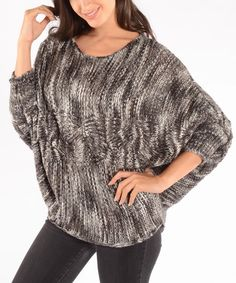 Grey Cable Wool Dolman Sweater | Daily deals for moms, babies and kids
