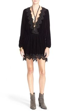 Free People 'Dreams' Lace Trim Tunic Dress available at #Nordstrom