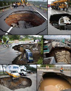 Is something strange happening?: Suddenly a Large Number of Massive Sinkholes Appearing Worldwide.